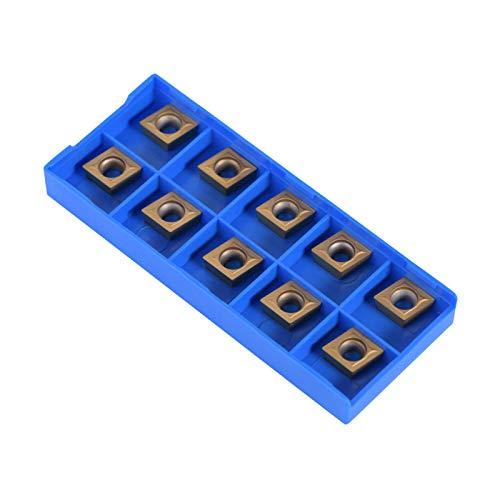 10 unids/set insertos de puntas de carburo CNC con contenedor, insertos de carburo CNC herramienta de torneado de torno de cuchilla, suministros para trabajar el metal