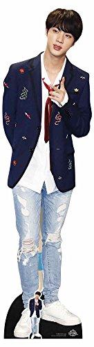 Star Cutouts Ltd U829540 CS748 Standup aus Karton in Lebensgröße mit gratis Tischausschnitt von Kim Seok (Jin) Red Tie BTS Standee Bangtan Boys, mehrfarbig