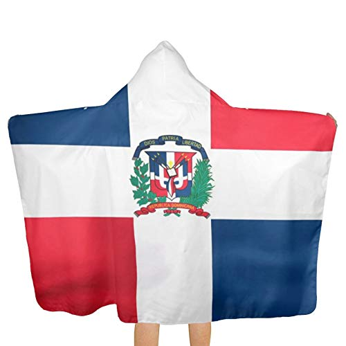 Developing The Flag of Dominican Republic Bath Towel with Hood Beach Quick Dry Hooded Towels Blanket Swim Pool Poncho Wrap