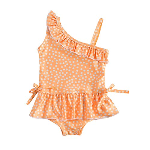 Baby Girls Bikini Bathing Suits Swimsuit,Infant Kids Girls Dot Strap Ruffled One-Piece Swimsuit Bathing Beach Swimwear