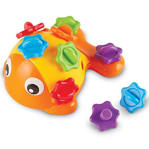 Learning Resources-El pez Finn, Juguete sensorial para Practicar Las Habilidades motoras Finas,...