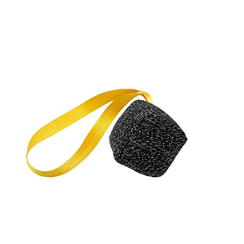 DIKOPRO Dog Bites Tug Toy,Dog Chewing Dog Toy|Dog Training Bite Sleeve|Pet Bite Pillow|Molar|Numb and Bite Interactive Dog Training Square Pillow,Suitable for Medium to Large Dogs(Black)
