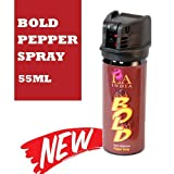BOLD Self Defence Pepper Spray for Women with Safety Lock (55 ML)