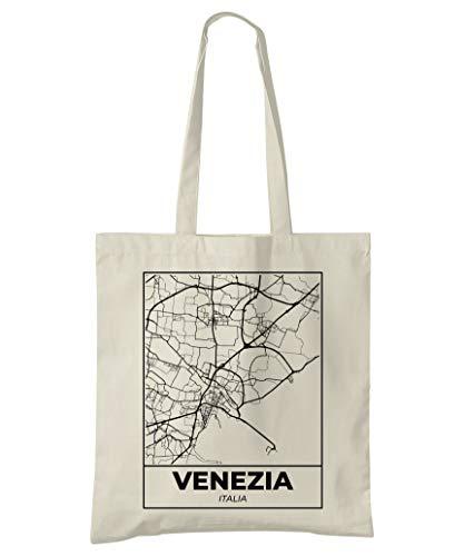 Super Cool Totes Venedig, Italien, Stadtplan Einkaufstasche (Design 5)