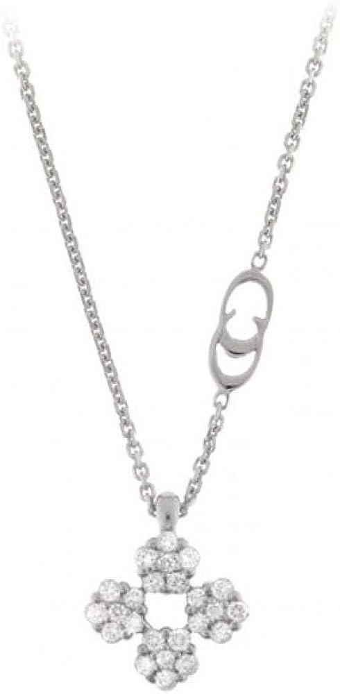 Chimento,girocollo per donna in oro bianco 18 kt con pendente in diamanti 0,24 ct 1G06535BB5450