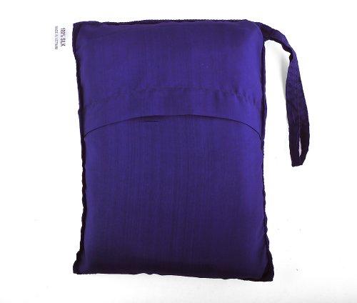 Marycrafts Seidenschlafsack Aus 100% Naturseide, Hüttenschlafsack Inlett Sommerschlafsack Aus Echter Seide 210 x 84 cm (Blau 3)