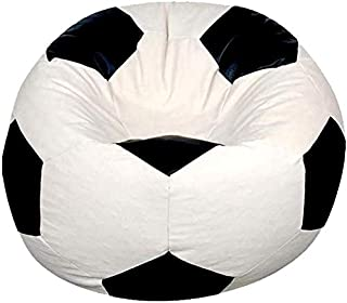 Football Beanbag Black and White