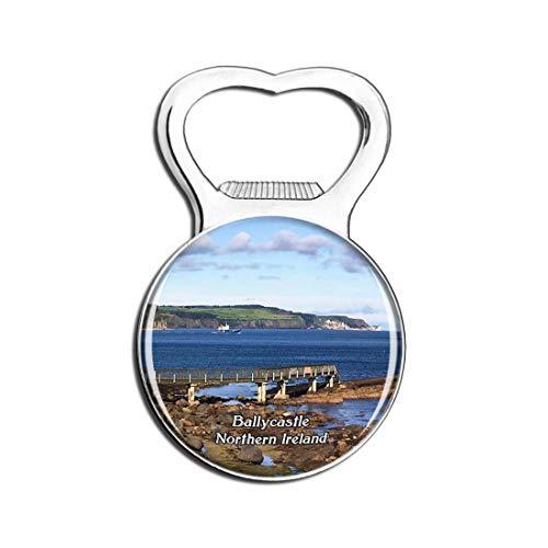 Weekino Nordirland Ballycastle Beach UK England Bier Flaschenöffner Kühlschrank Magnet Metall Souvenir Reise Gift