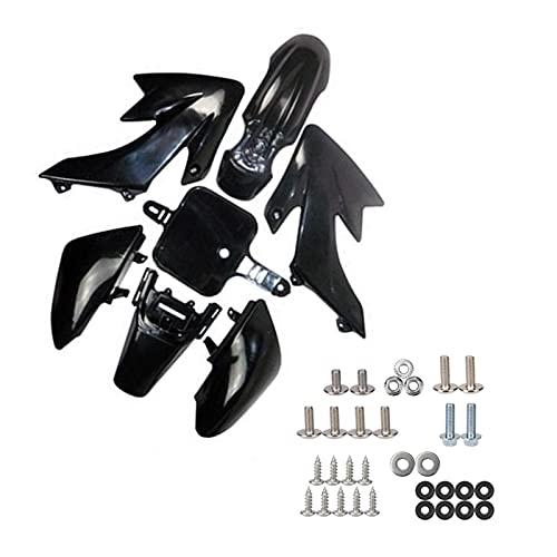 SFUO Pasaje de plástico Fender Guardia de Guardia de Motocicleta Pernos de Tornillo Ajuste para CRF50 110c 125cc 90cc Pit Pro Dirt Bike