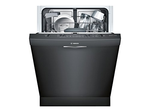 "Bosch SHS5AV56UC 24"" Ascenta Energy Star Rated Dishwasher with 14 Place Settings Stainless Steel Tall Tub 24/7 Overflow Protection System 6 Wash Cycles and Info Light in"