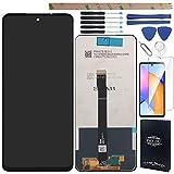 YHX-OU 6.67' para Huawei Honor 10X Lite P Smart 2021 Pantalla LCD Juego de digitalizador táctil de repuesto con herramienta de instalación + 1 pieza de cristal templado (negro)