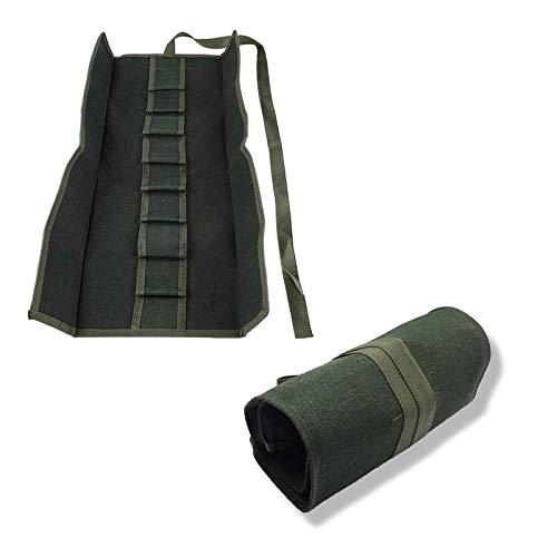 1 Stück Bonsai Werkzeugrollen Aufbewahrungstasche, Aufbewahrungstasche für Bonsai-Werkzeuge,Werkzeuge Rollbeutel Gartenreparaturwerkzeug Schere Leinwandwerkzeuge Aufbewahrungsbeutel (Grünes)