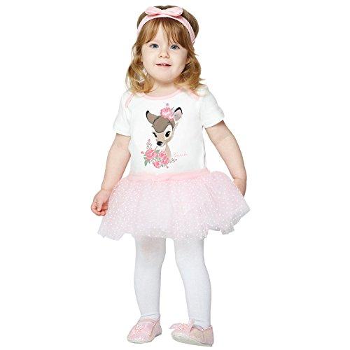 amscan-Bambi Body Tutu Falda Disfrace, 0-3 Meses, 2 Piezas, Color Blanco, (DCBAM-BYS00)