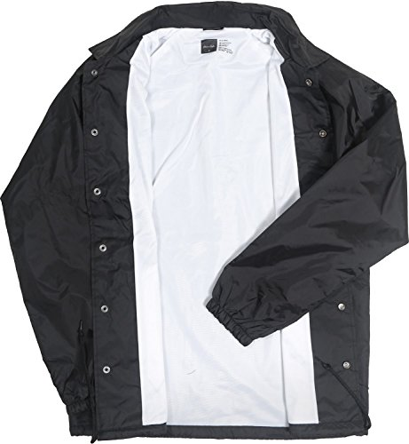 Coach Jacket Premium Quality Lightweight 100% Nylon Windbreaker Waterproof Rain Black