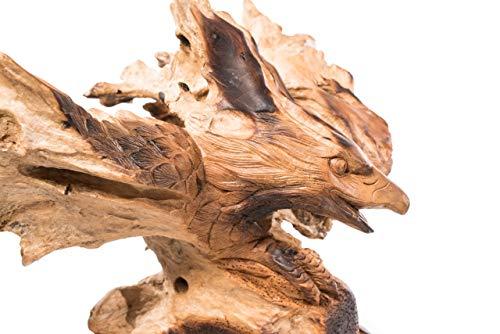 Windalf Adler Skulptur Davy h: 57 cm Rustikales Unikat Handarbeit aus Wurzelholz