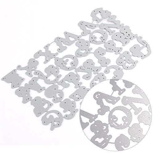 AILOVA Stanzformen,Große Alphabet Buchstaben Metall für DIY Scrapbooking Fotoalbum Präge Papier Karten Dekor Handwerk