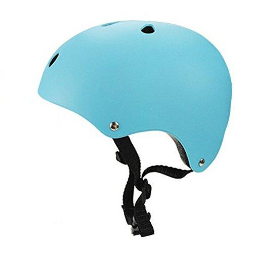ETbotu Fahrradhelm für BMX Bike Skate Kopfschutz für Kinder Erwachsene, Hellblau M