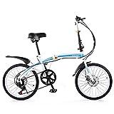 KANULAN Bicicletas de montaña Ciclismo Seis Niveles Sensible, Rápido Plegable, Para 50,8 cm, Material de Acero de Alto Carbono Espesado, Ergonómico para Adultos Hombres Mujeres T