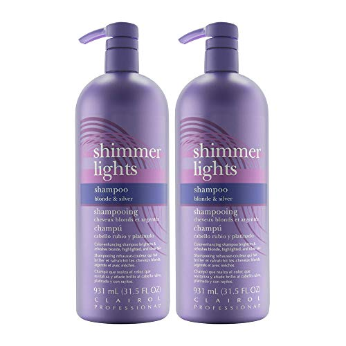 Clairol Shimmer Lights 31.5oz Shampoo (Blonde & Silver) (2 Pack)