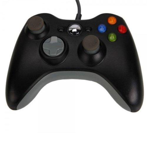 OSTENT Filaire USB Contrôleur Gamepad Joystick Joypad Compatible pour Microsoft Xbox 360 Console Windows PC Portable Ordinateur Jeux Vidéo Couleur Noir