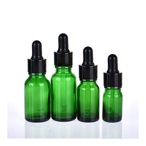 CHENHUA Mini Bomba de plástico vacío 30pcs 5ml-100ml Botellas vacías de Vidrio ámbar cuentagotas Esencial de aromaterapia Verde Gota del Aceite de la Botella de líquido reactivo Pipetear Recargable