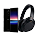 Sony Xperia 1 Unlocked Smartphone and WH1000XM3 Wireless Noise Cancelling Heaphones, with Noise Cancelling Wireless Headphones, One Size (J8170US/BWH) (Renewed)