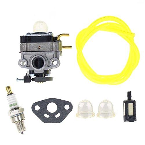AUTOKAY Carburetor with Fuel Line Filter Spark Plug for Troy-Bilt TB4BP TBP6160 TB4BPEC Backpack Blower 753-05676A Carb