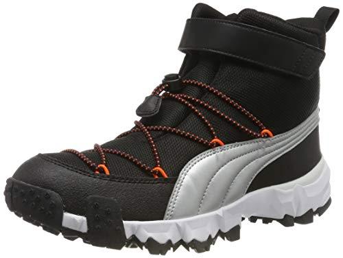 Puma Puma Maka V Jr Sneaker Unisex-Kinder, Schwarz (Puma Black-Nrgy Red 03), 37 EU
