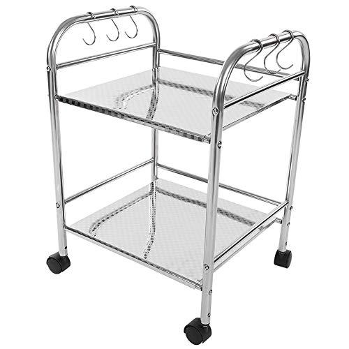2-Tier Shelf Rack, Storage Holder, Stainless Steel Multi-Function Shelf Kitchen Organizer, Durable, Practical