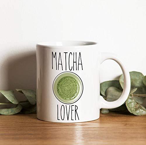 N\A Taza Matcha Lover Oh, te Amo Tanto Taza Matcha Regalo Té Matcha Taza de té Verde Taza de café Taza Regalos Regalos de Matcha Taza de Fan de Matcha