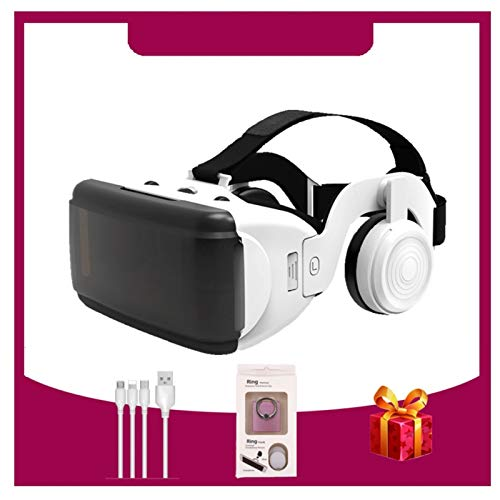 Occhio Anti-Luce Blu VR. Cuffie da Cuffie, connessione Bluetooth per Lo Schermo dello Smartphone di 4,7-6,5 Pollici Supporto Android Android e iOS. Adatto per iPhone 11 PRO/iPhone XS. Serie Max/IP