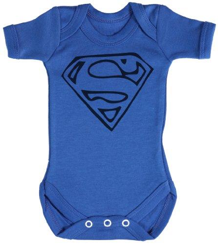 TRS - Super Man Body bébé - Cadeaux de bébé Naissance Bleu