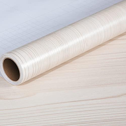 WSWJDW DIY pegatinas de grano de madera fondos de pantalla decoración del hogar oficina PVC impermeable a prueba de aceite autoadhesivo fácil de limpiar armario de escritorio, 7,60 cm x 2 m (grosor)