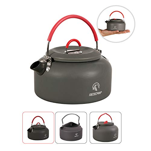 REDCAMP 0.8L Faltbar Camping Wasserkocher Kessel, Aluminium Teekanne Kaffeekanne, Tragbar Teekessel für Picknick Outdoor Wandern