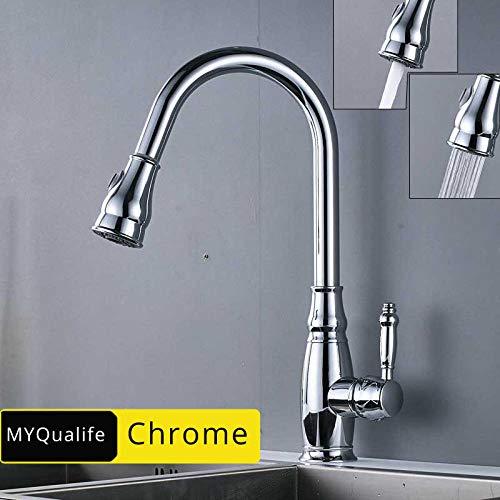 Zwarte bronzen keukenkraan uittrekken uitloop gootsteen waterkraan warm koud keukenmengkraan badkamer keukenkraan plafond monteren chroom