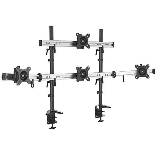 HFTEK 4-Fach-Monitorarm - Tischhalterung für 4 Bildschirme von 15 – 27 Zoll mit VESA 75 / 100 (MP234C-N)