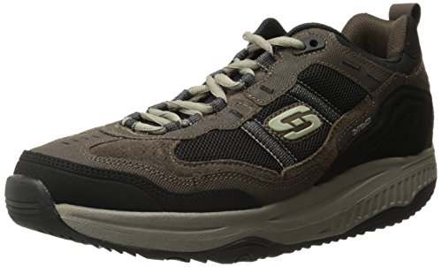 Skechers Sport Men's Shape Ups XT Premium Comfort Oxford,Brown/Black,9.5 M US