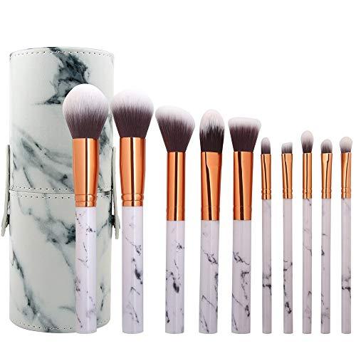 Pinceaux de maquillage femmes Set de 10 pinceaux de maquillage pour poudres liquides Premium pour le visage Eyeliner Blush Contour Foundation Cosmetic Brushes Doux