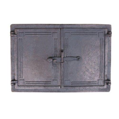 Markenlos Brotofentür Holzofentür 48 x 33 cm Ofentür aus Gusseisen Gußeisen Pizzaofentür, Steinofentür