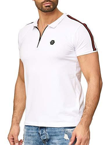 Redbridge Herren Kurzarm Polo Shirt Casual Streifen Basic Line Polohemd