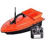 Gpzj Barco de Cebo RC, luz Nocturna 500 m de Distancia señuelo automático Pesca Inteligente Control Remoto Barco de Cebo Juguete buscador de Peces Barco 1,5 kg de Carga Control Conveniente