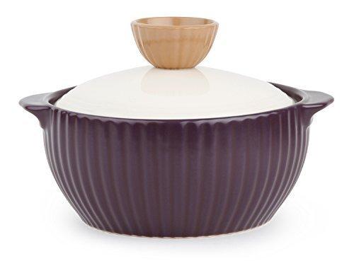 Neoflam Mystic Valley - Batería de cocina (cerámica, 1,4 cuartos), color morado