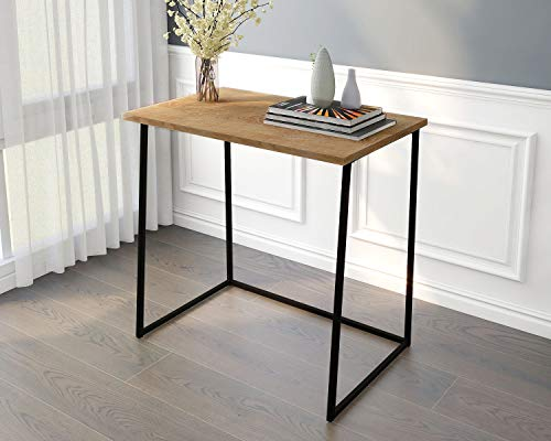 Computer Desk Office Folding Table Modern Simple Work Study Desk Industrial Style PC Laptop Table for Home Office Black