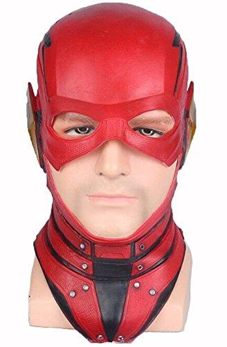 K-Y YK Barry Allen Lightning Knight Maske COS Justice League Helden Kopfbedeckungen Halloween Animation Spiele Film Requisiten Geburtstagsgeschenk (Flash)