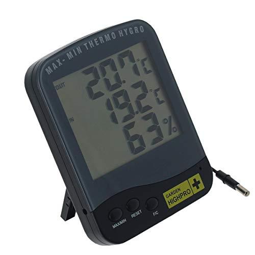 Thermomètre & Hygromètre Premium avec sonde - Garden HighPro