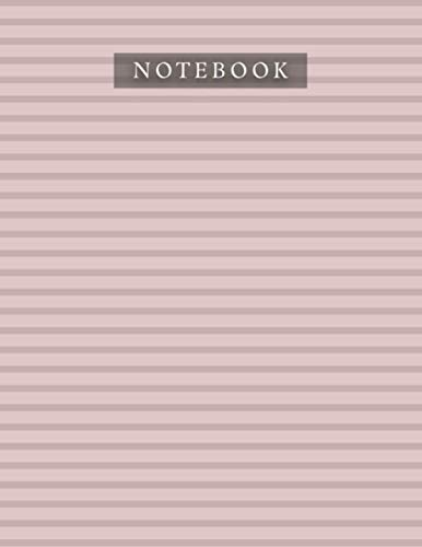 Notebook Rosy Brown Color Horizontal Line Baby Elephant Pattern Background Cover: Organizer, Planner, Journal, 8.5 x 11 inch, Da