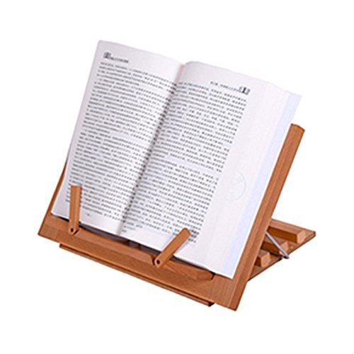 Cavalletto da tavolo in legno di alta qualità soddisfazione Book/iPad/Notebook supporto ricetta del telaio di lettura per bambini e adulti–Libro supporto in legno per lettura