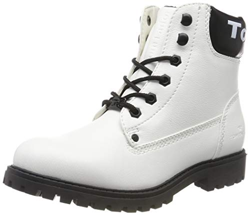 TOM TAILOR Damen 7990114 Stiefeletten, Weiß (White 00002), 40 EU