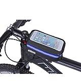 INHEMI Borsa Telaio Bici, Wheel Up 6.5 inch Porta Cellulare Bici, Borsa da Manubrio per Biciclette, Borse Biciclette Supporto Bici MTB BMX, Accessori Bici
