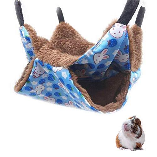 WBTY Haustier-Nest für Hunde und Katzen, faltbar, doppelseitig, Haustier-Hängematte, Haustier-Schlafsack, zum Aufhängen, für Kleintiere, Meerschweinchen, Ratten, Igel, C, Large